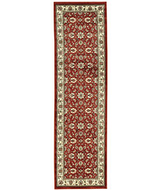 """CLOSEOUT! KM Home Pesaro Meshed Brick 2'2"""" x 7' 7"""" Runner Area Rug"""