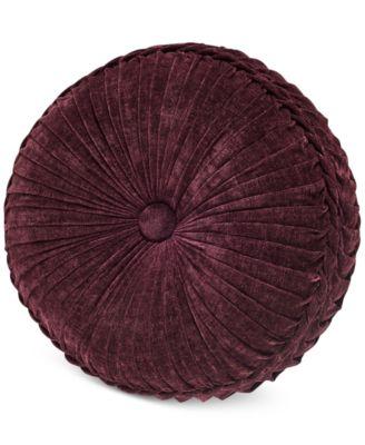 "Gianna Quartz 15"" x 4"" Tufted Round Decorative Pillow"