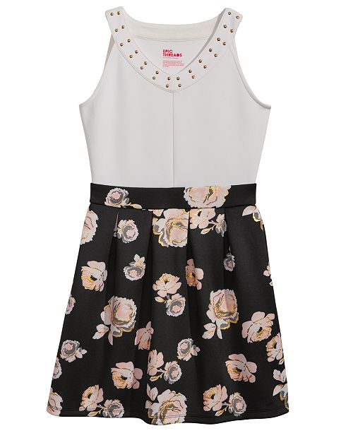 9f92df65535 Epic Threads Floral-Print Scuba Skater Dress, Big Girls, Created for Macy's