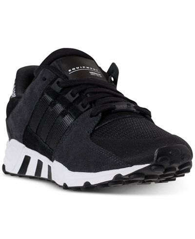 Adidas Men Athletic Shoes Eqt Support Refine Casual Sneakers Black