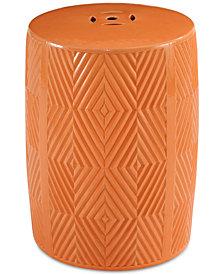 Reik Ceramic Garden Stool, Quick Ship