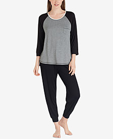 Layla Raglan-Sleeve Pajama Top & Cropped Jogger Pajama Pants Sleep Separates