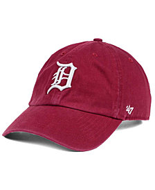 '47 Brand Detroit Tigers Cardinal and White CLEAN UP Cap