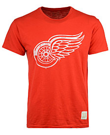 Retro Brand Men's Detroit Red Wings First Line Logo T-Shirt