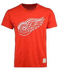 Retro Brand Men's Detroit Red Wings First Line Logo T-Shirt