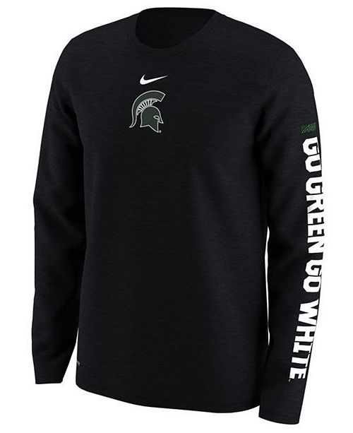 Nike Men's Michigan State Spartans Fresh Trainer Hook Long Sleeve T-Shirt