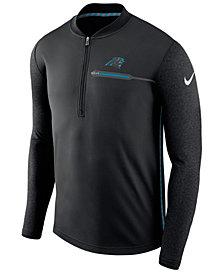 Nike Men's Carolina Panthers Coaches Quarter-Zip Pullover