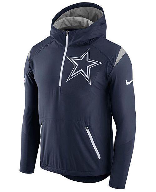 separation shoes 0cb84 310e9 Nike Men's Dallas Cowboys Lightweight Fly Rush Jacket ...