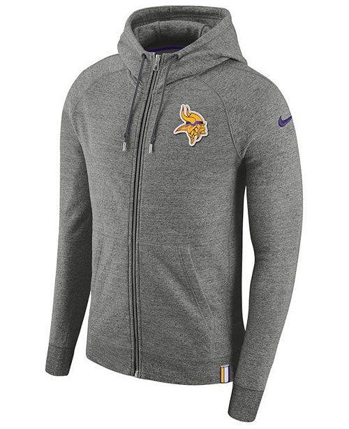 the best attitude c067b 460c6 Nike Men's Minnesota Vikings Full-Zip Hoodie & Reviews ...