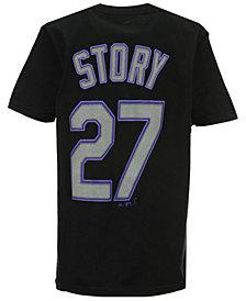 Majestic Trevor Story Colorado Rockies Official Player T-Shirt, Big Boys (8-20)
