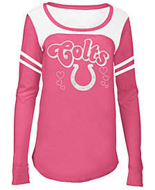 5th & Ocean Indianapolis Colts Pink Slub Long Sleeve T-Shirt, Big Girls (4-16)