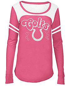 5th & Ocean Indianapolis Colts Pink Slub Long Sleeve T-Shirt, Big Girls (4-16)