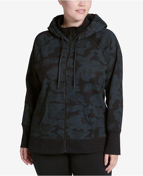 Calvin Klein Plus Size High-Collar Logo Hoodie