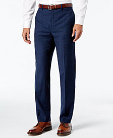 Lauren Ralph Lauren Men's Classic-Fit Ultraflex Navy Plaid Suit Pants