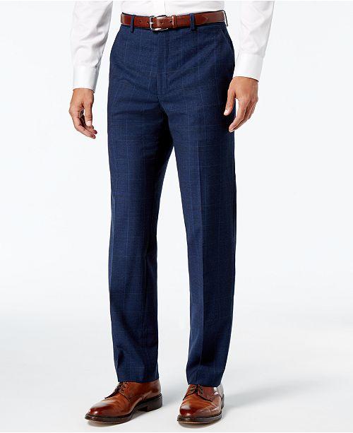 857ab23a5fefed ... Lauren Ralph Lauren Men's Classic-Fit Ultraflex Navy Plaid Suit  Separates ...