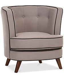 Mirman Upholstered Accent Chair, Quick Ship