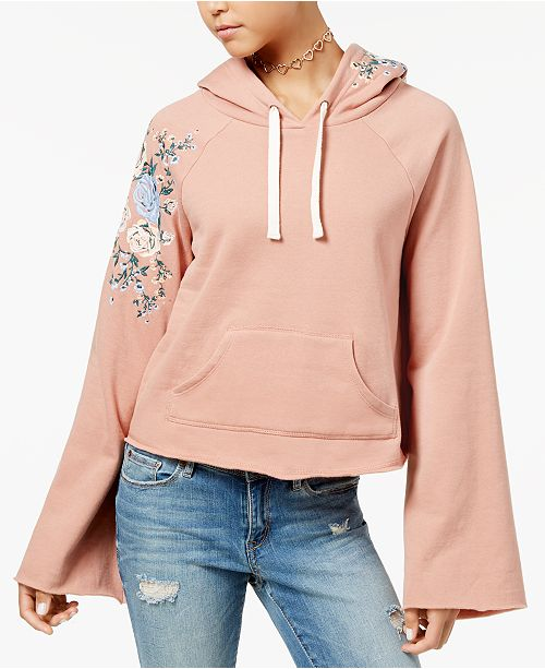 Juniors' Embroidered Hoodie, Created for Macy's