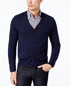 Brooks Brothers Red Fleece Men's Merino Wool Cardigan
