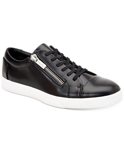 Calvin Klein Men's Ibrahim Box Leather Sneakers