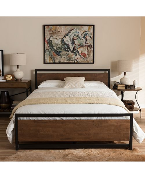 Furniture Ethen Bed Collection, Quick Ship