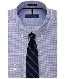 Tommy Hilfiger Men's Check Dress Shirt & Twill Stripe Tie