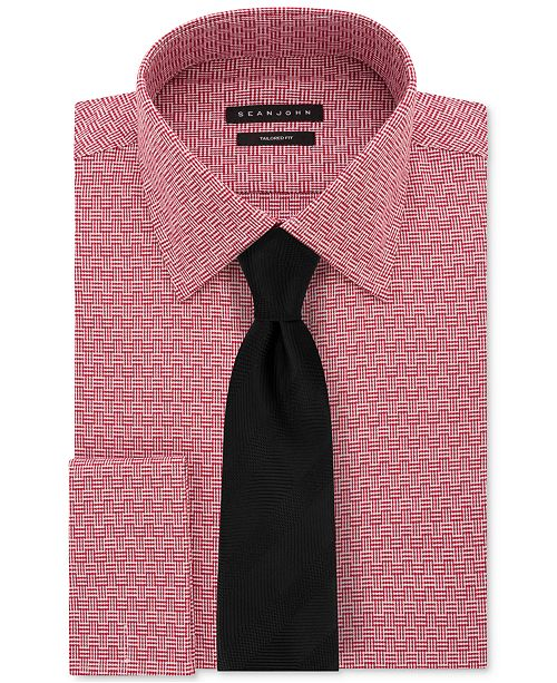 de09106b3 Sean John Men's Textural Solid Dress Shirt & Herringbone Solid Tie ...