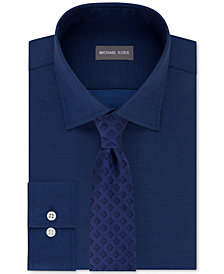 Michael Kors Men's Airsoft Solid Dress Shirt & Foreshadow Square Tie