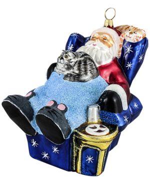 Joy to the World Santa Taking a Cat Nap Ornament 5169623