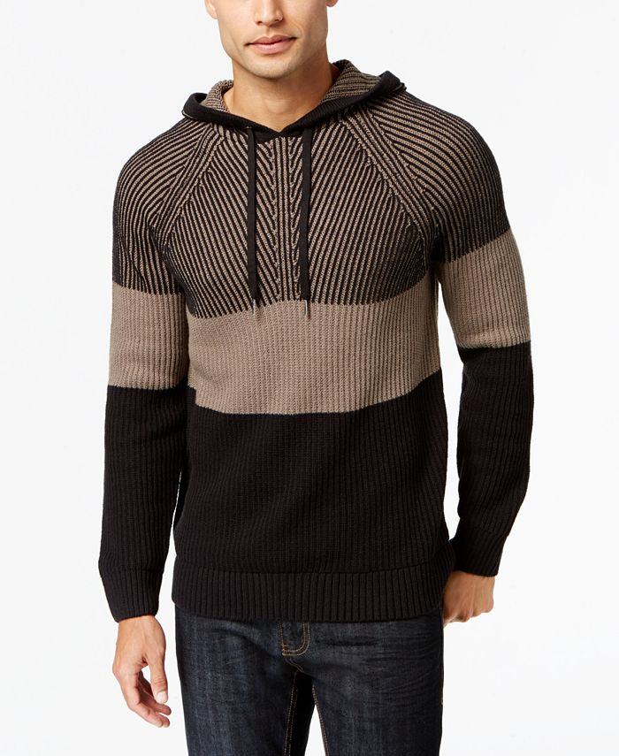 INC International Concepts - Men's Colorblocked Hooded Sweater
