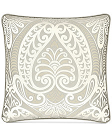 "J Queen New York Le Blanc 18"" Square Decorative Pillow"