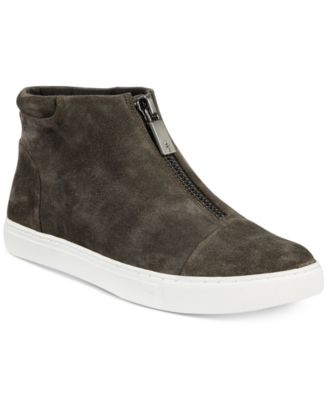 Kenneth Cole New York Womens Kayla High Top Front Zip Sneaker Patent Fashion
