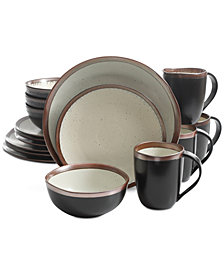 CLOSEOUT! Laurie Gates Cuzco Copper 16-Pc. Dinnerware Set