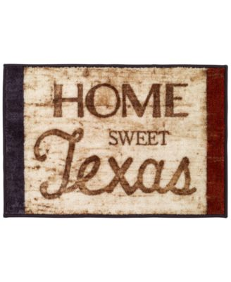Home Sweet Home Texas Bath Rug