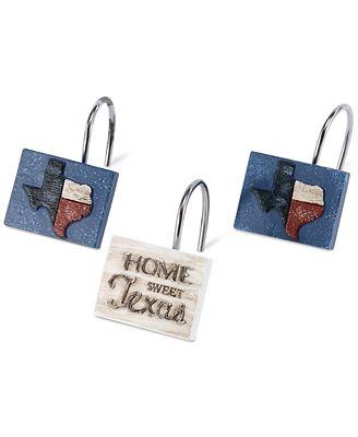 Avanti Home Sweet Texas 12-Pc. Shower Hook Set