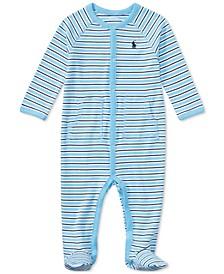 폴로 랄프로렌 남아용 아기 우주복 Polo Ralph Lauren Baby Boys Striped Footed Cotton Coverall