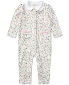 Ralph Lauren Baby Girls Printed Cotton Coverall
