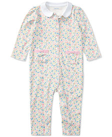 Ralph Lauren Printed Cotton Coverall, Baby Girls