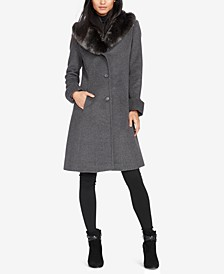 Faux-Fur-Collar Walker Coat