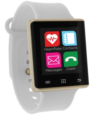Unisex Pulse White Silicone Strap Smart Watch 41mm, Created for Macy's