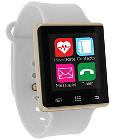 iTouch Unisex Pulse White Silicone Strap Smart Watch 41mm, Created for Macy's