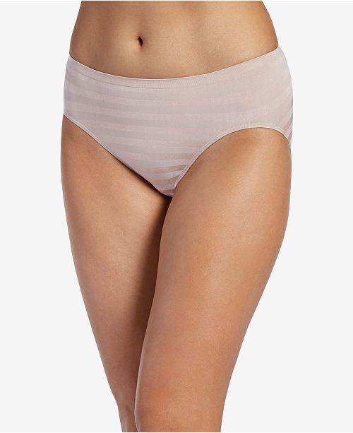 Jockey Seamfree Matte and Shine Hi-Cut Underwear 1306, Extended Sizes