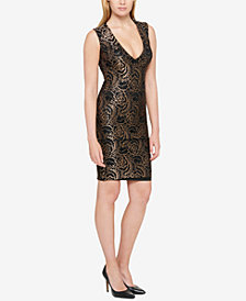 GUESS Metallic Lace Bodycon Dress