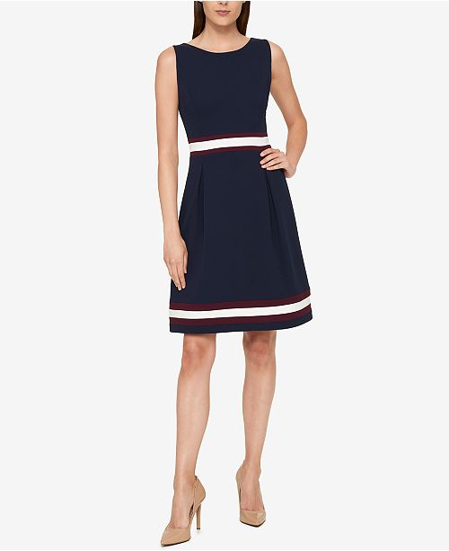 4ef635e6 Tommy Hilfiger Colorblocked A-Line Dress & Reviews - Dresses ...