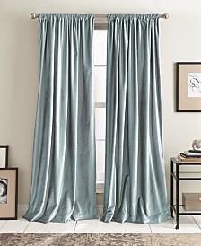 "DKNY Modern Textured Velvet 50"" x 108"" Pole Top Pair of Window Panels"