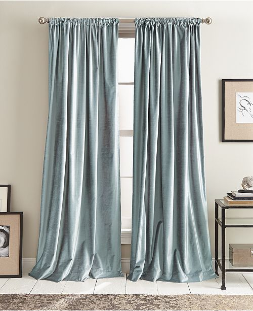 "DKNY Modern Velvet 50"" x 108"" Curtain Set"