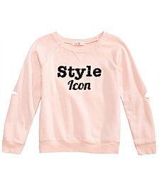 Kandy Kiss Style Icon Sequin-Detail Sweatshirt, Big Girls
