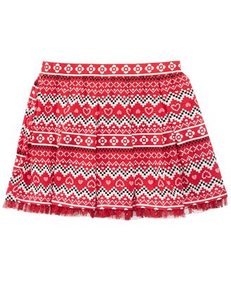 Epic Threads Mix and Match Pleated Fair Isle Skirt, Little Girls ...