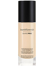 bareMinerals BarePro Performance Wear Liquid Foundation, 1 oz