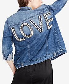 RACHEL Rachel Roy Cotton Love Denim Jacket, Created for Macy's