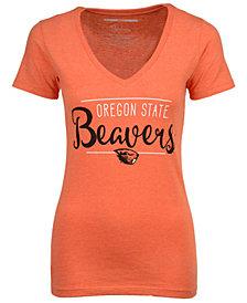 Women's Oregon State Beavers Jazz Script V-Neck T-Shirt